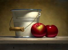 Ted Polomis | OIL | Pail With Apples