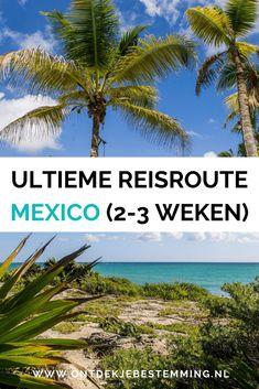 Op zoek naar de ultieme reisroute door Mexico in 2-3 weken? Met deze route zie je alle hoogtepunten van Mexico, met o.a. Yucátan! #mexico #rondreis #yucatan Cancun, Tulum, Central America, North America, Digital Nomad, Mexico Travel, Merida, Road Trips, Travel Tips