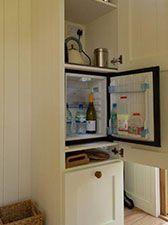 Shepherd hut fridge