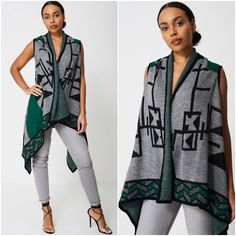 Womens Aztec Pattern Poncho Cardigan Western Cowgirl Style Sizes UK 8 10 NEW Cowgirl Style, Aztec, Waterfall, Winter Fashion, Kimono Top, Casual, Womens Fashion, Clothing, Pattern