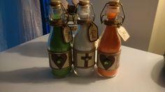 #UnitySand Bottles filled with coloured sand  #wedding #diy
