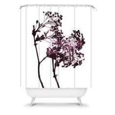 Garima Dhawan Dancing Trees Violet Shower Curtain/DENY