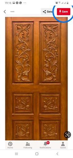 Wooden Double Doors, Wooden Front Door Design, Double Door Design, Wooden Front Doors, Oak Doors, Door Design Photos, Home Door Design, Pooja Room Door Design, Door Design Catalogue