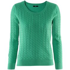 H&M Jumper (135 EGP) ❤ liked on Polyvore featuring tops, sweaters, hm, jumpers, green, cable-knit sweater, fine knit sweater, jumpers sweaters, h&m tops and cable sweater