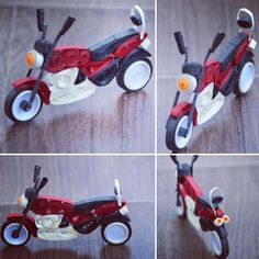 Quilled bike (bajaj Aveng - Quilling Deco Home Trends Quilling Dolls, Paper Quilling Tutorial, Paper Quilling Flowers, Paper Quilling Patterns, Paper Quilling Jewelry, Origami And Quilling, Quilled Paper Art, Quilling Paper Craft, Quilling 3d