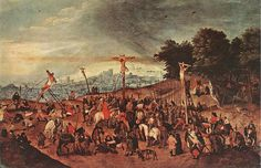 Pieter Brueghel, el Joven. Crucifixión (1617). Museum of Fine Arts, Budapest.