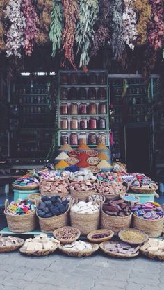 Marrakesh rainbow market