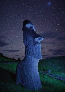 Easter Island Moai - national Geographic - Photograph by Randy Olson Places Around The World, Oh The Places You'll Go, Places To Travel, Places To Visit, Beautiful World, Beautiful Places, Belle Photo, Night Skies, Wonders Of The World