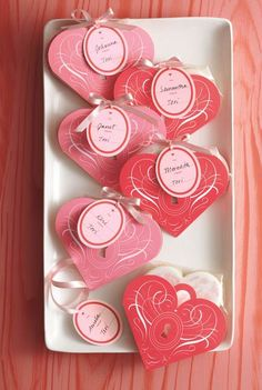 Valentine Heart Shaped Treat Bags