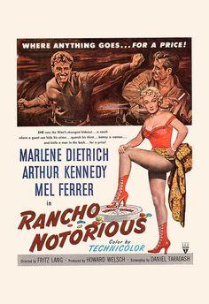 RETRO MOVIE POSTER Marlene Dietrich Movie by EncorePrintSociety