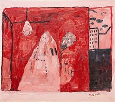 Philip Guston, Inside, 42 x 48 ins. Oil on Canvas 1969. Philip Guston was a contemporary Canadian visual artist who was born in 1913. Philip Guston has had numerous gallery and museum exhibitions, including at the San Francisco Museum of Modern Art and at the Museum of Contemporary Art (MCA) Chicago .