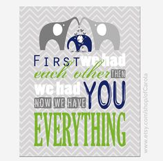 Elephants Baby Boys Nursery Wall Art Print First We by ofCarola, $12.00