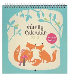 This 2013 Family Calendar is here to help busy families stay on track. The clever design has a column for birthday reminders alongside space for up to five family members to record appointments and events.  Also included are a handy range of sticky labels to help organise your activities.