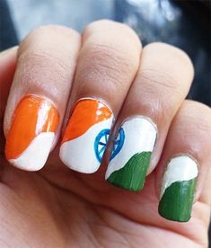 A Western Style Check This Independence Day! Best Nail Art Designs, Simple Nail Designs, Designs To Draw, Western Style, Beautiful Fantasy Art, Beautiful Flowers, Moderne Outfits, Indian Independence Day, India Crafts