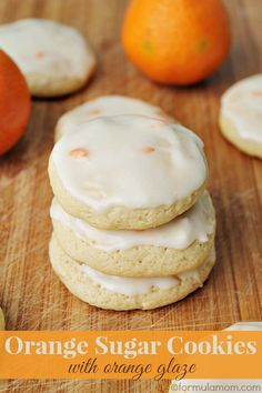 Vera requested Lemon cookies, but since I had I looked up a halo cookie recipe and found this gem! Orange Sugar Cookies with Orange Glaze Orange Cookies, Lemon Sugar Cookies, Sugar Cookies Recipe, Yummy Cookies, Bar Cookies, Chip Cookies, Easy Cookie Recipes, Sweet Recipes, Dessert Recipes