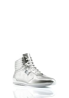Hi Top Metallic Sneaker - Versace