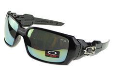 8f49427be8 Oakley Oil Rig Sunglasses Black Frame Colored Lens Luxury Sunglasses