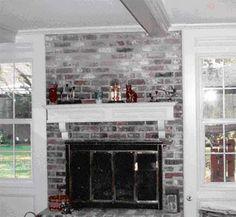 Brick fireplace mantel ideas