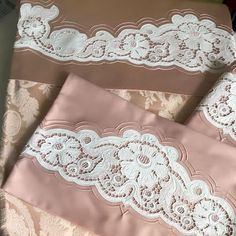 Disposable Face Mask with Earloop, Breathable and Comfortable for Personal Care Protection Masks) Ribbon Embroidery, Embroidery Designs, Cutwork, Filet Crochet, Embroidered Lace, Bed Covers, Home Textile, Linen Bedding, Bed Pillows