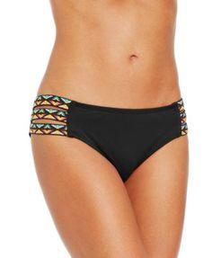 Lucky Brand Tribal-Print Banded Bikini Bottom