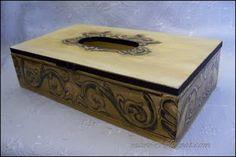black - gold tissues box