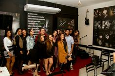Aquela foto de todo mundo junto e misturado. Não sabíamos para qual câmera olhar!