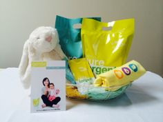 """Welcome Baby Gift: Laundry Soap pouches """"gentle"""" the super softener for baby clothes and """"fresh"""" for those stubborn stains on cloth diapers."""