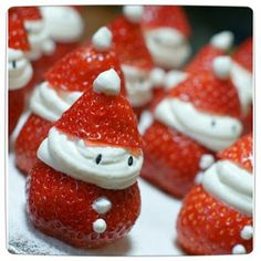 strawberry santa hats bon appetit games recipe healthy christmas dessert recipe christmas party food