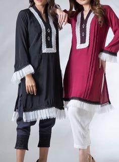 Kurti Sleeves Design, Sleeves Designs For Dresses, Dress Neck Designs, Kurti Neck Designs, Kurta Designs Women, Kurti Designs Party Wear, Stylish Dress Designs, Blouse Designs, Pakistani Fashion Casual