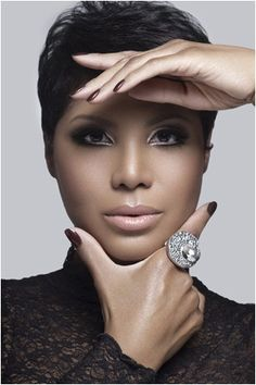Toni Braxton, I think she looks her best with short hair.