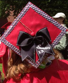 Hey, I found this really awesome Etsy listing at https://www.etsy.com/listing/254904076/cap-and-gown-senior-bow-rhinestone-trim