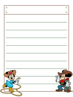 """Western Minnie and Mickey with title box - Project Life Disney Journal Card - Scrapbooking. ~~~~~~~~~ Size: 3x4"""" @ 300 dpi. This card is **Personal use only - NOT for sale/resale** Logos/clipart belong to Disney. ***Click through to photobucket to see this this card with lots of different characters***"""