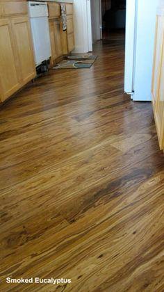 Smoked Eucalyptus hardwood floor from Greenwood.