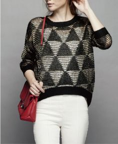 Loose Knit Tops with Dip Back