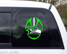 NEW Seattle Seahawks Football Logo Tribal Football Decal 2 Tone Vinyl 8