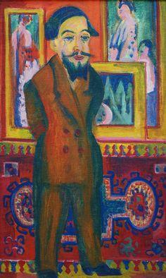 Ernst Ludwig Kirchner, Männerbildnis (Leon Schames) 1922                                                                                                                                                      More