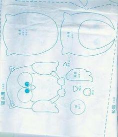 Moldes para figuras en foami o fieltro | Solountip.com