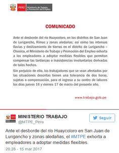 Vía www.gestion.pe Ante las inclemencias climáticas de las últimas horas, la Dirección Regional de Educación de Lima Metropolitana suspendió el desarrollo de las clases en colegios públicos y priva…