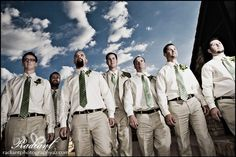 My husband specializes in taking rock star groomsmen photos!
