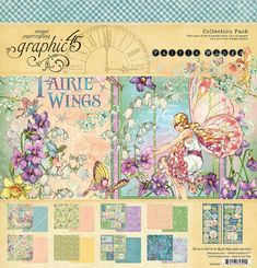 """BLOWING BUBBLES Graphic 45 Fairie Wings 12x12/"""" D//sided Scrapbooking Paper"""