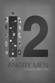 Great movie poster - Minimalist style - for 12 Angry Men