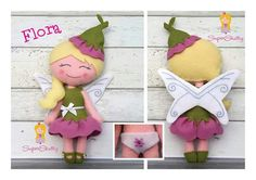 Flora the fairy. Handmade from felt. www.superskattig.nl