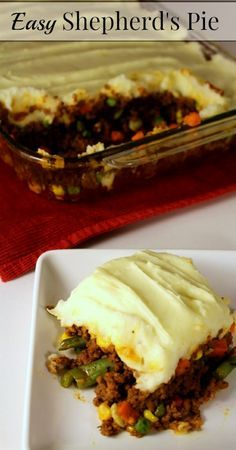 Easy Shepherds Pie-Season and brown meat and add (I use) Mild Rotel canned tomatoes (not paste) and frozen mixed vegetables and add a small can of tomato sauce then layer mashed potatoes and top  with mild shredded cheddar