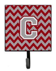 Letter C Chevron Crimson and Grey Leash or Key Holder CJ1043-CSH4