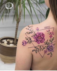 Koray Karagozler flower tattoo