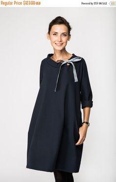 SALE - Classic dress   French dress   Deep Blue dress   LeMuse classic dress