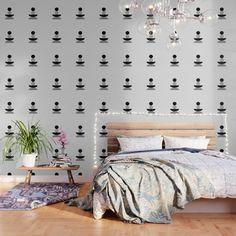Boss Wallpaper, Cover Wallpaper, Skull Wallpaper, White Wallpaper, Peel And Stick Wallpaper, Wallpaper Patterns, Three Floor, Cool Rooms, Fabric Panels