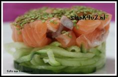 raw salmon with wasabi Raw Salmon, Tuna, Sashimi, Cantaloupe, Watermelon, Cabbage, Pizza, Fish, Dinner