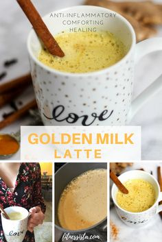 Golden Milk Latte | How to Make Turmeric Tea - an anti-inflammatory, comforting, healing beverage that's perfect before bed! fitnessista.com