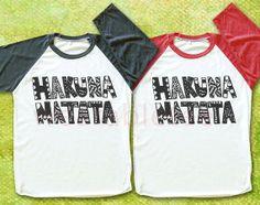 NEW Hakuna Matata TShirts Lion King TShirts Text by wearabletee, $18.00